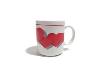Vintage 80s/90s Hearts Mug