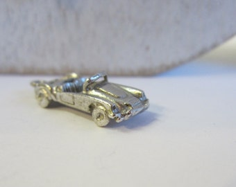 Solid Silver charm, Convertible Silver Car Charm