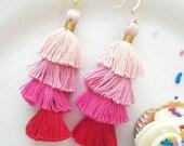 Candy Fringe Tassel Earrings by Genie Mack