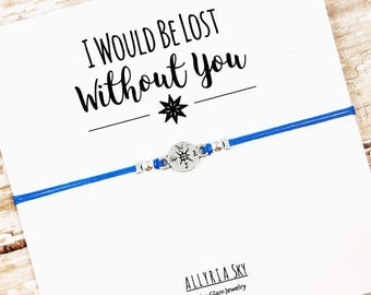 """Best Friend Bracelet with """"Lost Without You"""" Card 
