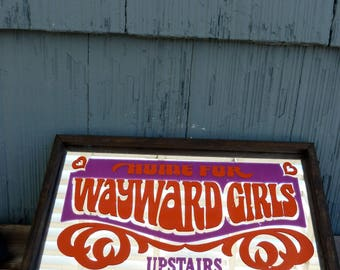 Home For Wayward Girls Upstairs mirror, 60s 70s retro style, girls room decor, troublemaker present