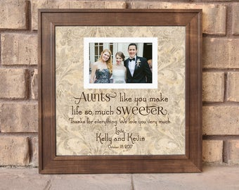 aunts like you frame aunt gift aunt frame aunts wedding frameunique wedding gift wedding thank you custom frame 15x15 framedaeon