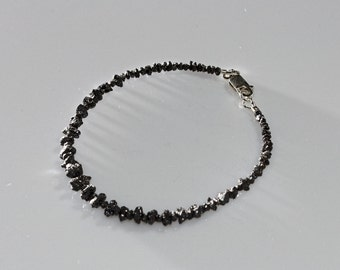 Black Diamond Bracelet for Men 16.7 ct, Guys' Unique Gemstone Jewelry by Reky, Zodiac Cancer, 10th Anniversary Luxury Gift for Him Husband