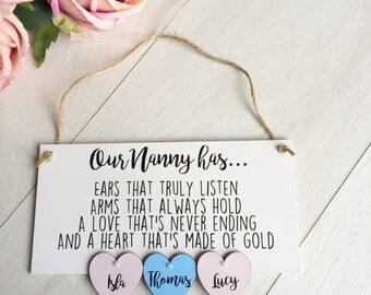 personalised nanny gift, nan nanna nana grandparent mothers day gift, gift for mum, mothers day nanny gift, mothers day card special nanny
