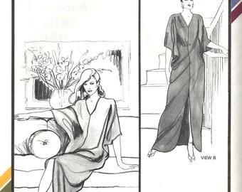 Stretch & Sew 2040 Sewing Pattern Misses Vintage Eighties Hostess Caftan sz P Thru XL Uncut