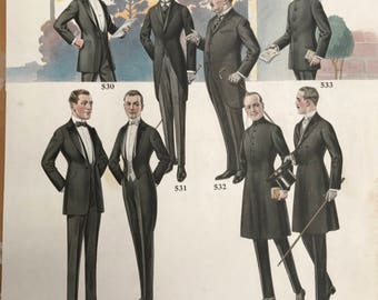 Early 1900s Men's Clothing Poster