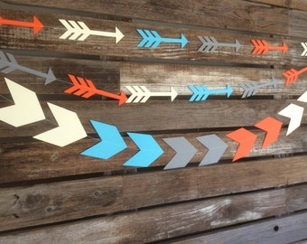 Tribal Party Arrows Garland - Tribal Garland, Arrowheads, Wild One Party, Birthday Party, Party Decorations, Photo Prop, Baby Shower