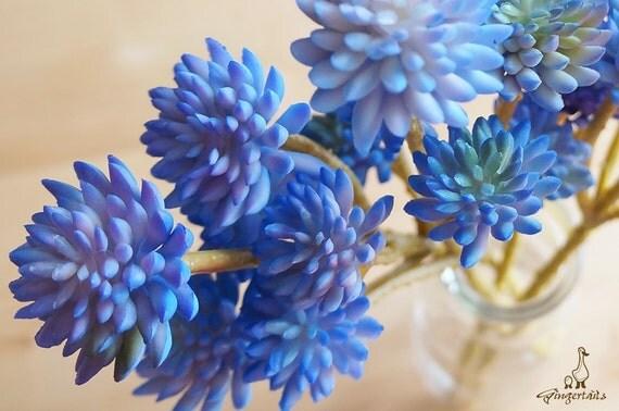 Carolina Blue Lavender And Olive Sedum Artificial Flower