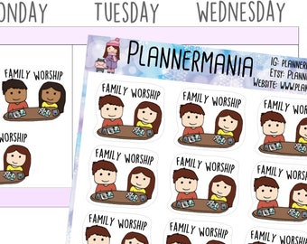 JW Stickers JW Planner Stickers Family Worship Stickers JW Gifts Bible Study Stickers for use with Erin Condren LifePlanner™ 612