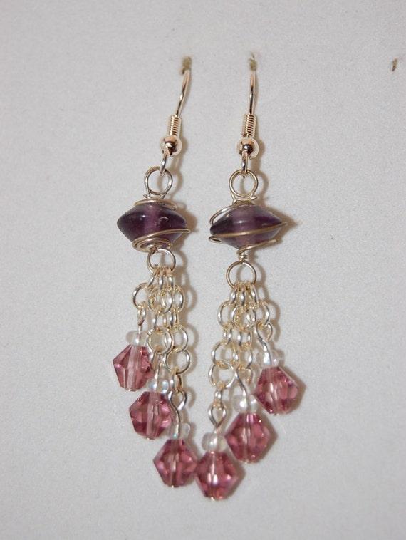 chandelier earrings dangle drop earrings by chimericsoul