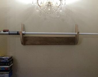 Reclaimed Wood Sword Rack