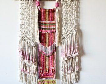 Tribal macrame wall art / ranran design / wallhanging