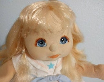 1987 Mattel My Child Doll -  Blonde with Blue Eyes