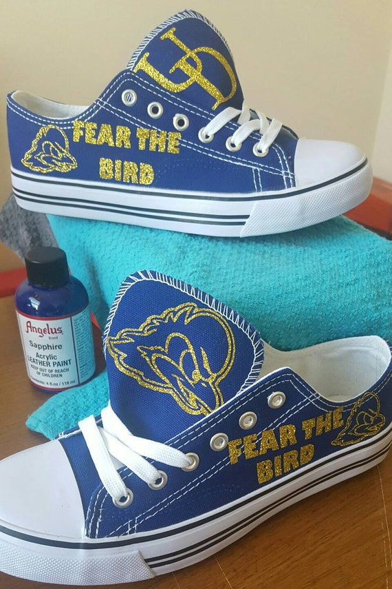 items similar to custom college shoes inspired by univ of