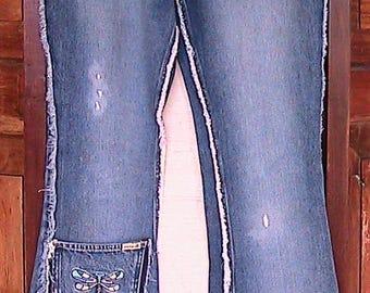 Size 7 Vintage 90s zana*di Low Rider Jeans