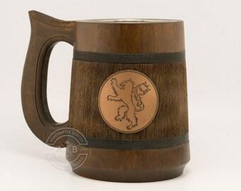 House Lannister Mug 23oz, HEAR ME ROAR, Game of Thrones Gift, GoT, Game of Thrones inspired gift, Beer mug