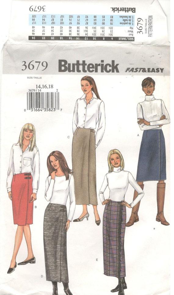Butterick 3679 tamaño 14, 16, 18 mujeres abrigo patrón de costura de ...