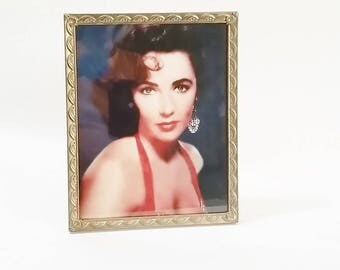 Gold Picture Frame, 8x10 Picture Frame, 8x10 Photo Frame, Vintage Picture Frames