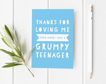 Funny Father's Day Card, Grumpy Teenager Card, Funny Card For Dad, Cheeky Father's Day Card, Best Dad Fathers Day Card, Funny Card Stepdad