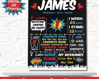 Superhero Chalkboard - Super hero Chalkboard - Superhero party - Superhero Birthday - Superhero Decorations - Superhero Board - 1st Birthday