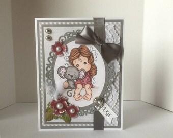 Any Occasion/Friend/Hugs Handmade Greeting Card
