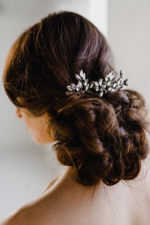 Crystal Hair Pins Bridal Hair Pins Silver Hair Pins