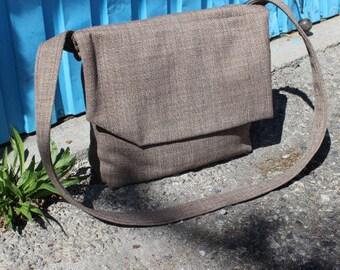 Light Brown Handbag, Brown, Bag, Handbag, Crossbody Handbag, Recycled Handbag, Teenager's Bag, Messenger, Boy's Handbag, Messenger Handbag