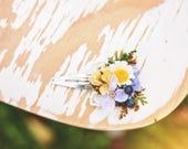Meadowy hair clip Hair clip with blueberries Flower hair clip Colorful hair clip Romantic hairpins Hair accessories