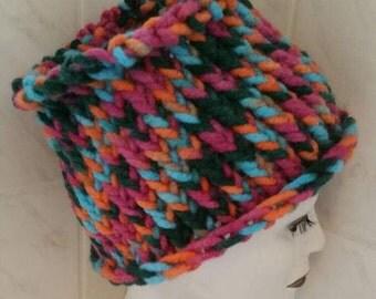 Hippie rainbow dreadlock hat tube headband