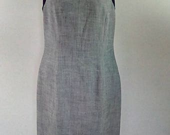 Vintage 90s grey black pencil wiggle dress by Luis Civit size small