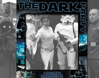 STAR WARS PARTY - Birthday Photo Booth Prop Frame - Dark Side Pary - Dark Side Party Frame - Digital File - Marco para fotos - Dark Side