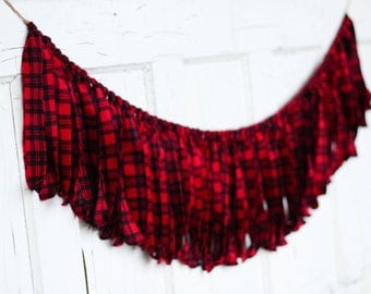 Red and black buffalo check fabric   Etsy