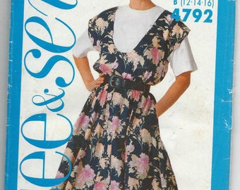 See and Sew 4792 Misses Jumper and Top Size 12-16