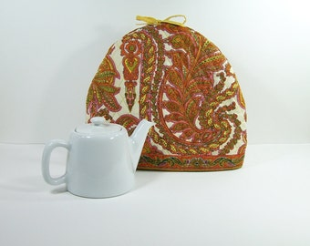 Tea pot warmer Provençal padded fabric Valdrome vintage  Made in France
