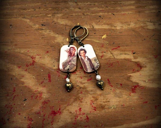 Poldark Earrings - Poldark Jewelry - Ross Poldark - Demelza Poldark - Ross and Demelza - Poldark TV Series - BBC - Fan Art - Fan Jewelry