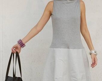 Grey Linen Dress - Linen Womens Clothing - Linen Clothing - Linen Dresses - Womens Linen Dresses - Sleeveless Dress - Summer Clothing - Grey