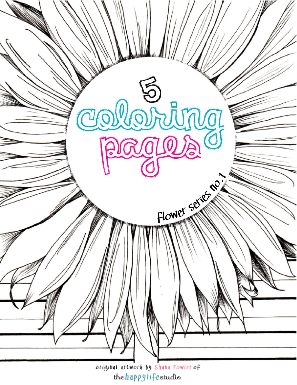 flower coloring pages sunflowers zinnias poppies