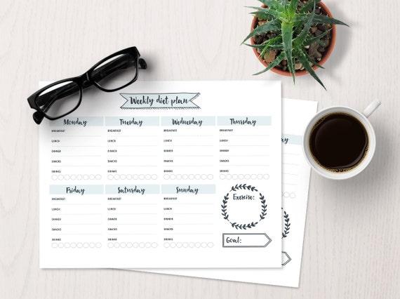 Bujo weekly diet planner bullet journal template bullet