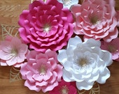 Paper flower backdrop, Paper flower nursery decor, Paper flower for first birthday, Cake smash photo prop, large paper flowers