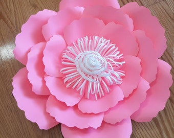 Paper flower template SVG cut file, paper flower pattern, DIY paper flower, large paper flower pattern, paper flower tutorial,