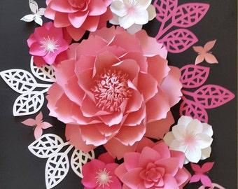 Paper flowers for nursery, Nursery paper flowers, Nursery decor, Paper flower wall decor, Large paper flowers, , Paper flower backdrop,