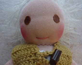 """13 """" Doll, Waldorf Doll, Sock Doll, Wool Doll"""