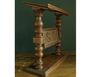 19th Century Bible / Missal stand with rotating center panel.