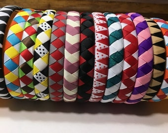 1/2 Inch Woven Headband you pick the colors