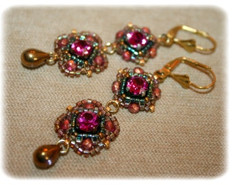 Earrings Pompadour / style old/baroque/romantic/Duchess/marie antoinette