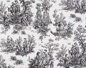 Toile Shower Curtain Custom Shower Curtain Colonial Toile Black White 54 X  78 72 X 84