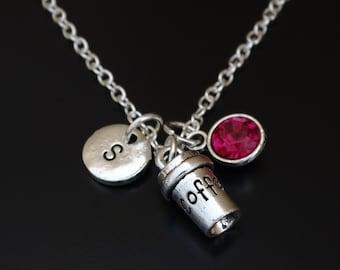 Coffee Necklace, Coffee Jewelry, Coffee Charm, Coffee Pendant, Coffee Lover Jewelry, Coffee Gifts, Coffee Invitation, Coffee Lovers Gift