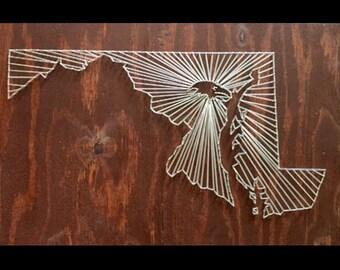 Baltimore Ravens String Art | Made to Order, Custom String Art