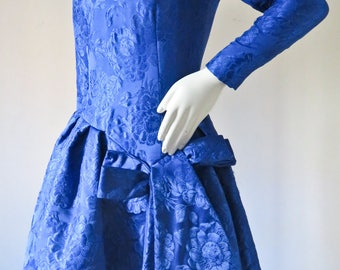 Vintage 1980s Arnold Scaasi Couture Dress Made for Bergdorf Goodman