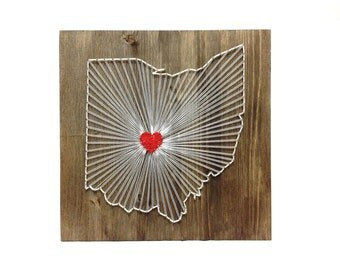 String Art Ohio State Wall Art Ohio Home Decor Part 70